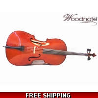 Woodnote CB-310E Solid Wood/Ebony Fitting/Hard Foamed Wheeled Cello Case