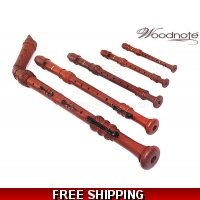 Woodnote 5 pieces Pro. Wood Grain Recorder Set