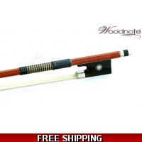Woodnote VIB-350 Fine Octagonal Brazilwood Violin Bow - Straight / Strong