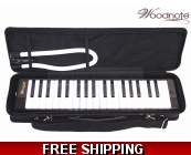 Woodnote Black/Blue 37 Key Melodica with Hard Ca..