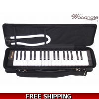 Woodnote Black/Blue 37 Key Melodica with Hard Carrying Case