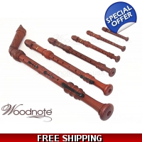 Woodnote 6 Pieces Pro. Wood Grain Recorder Set