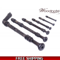Woodnote 6 Pieces Pro. Matte Black Recorder Set
