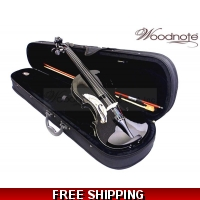 Woodnote VB-290BK 4/4 Black Violin Fiddle-Bow/Rosin/Case/String Set