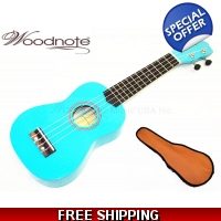 "Blue-21"" Soprano Ukulele-Rosewood Fingerboard & Bridge / 600D Bag"