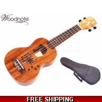 "Woodnote 21"" Cat Mahogany Soprano Ukulele-Rosewood Fingerboard & Bridge/Bag"