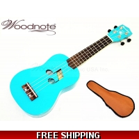 "Blue Note Hole-21"" Soprano Ukulele-Rosewood Fingerboard & Bridge/600D Bag"