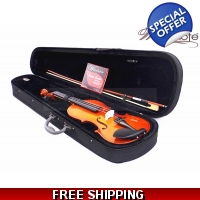 Woodnote VB-280 Violin Fiddle-Bow/Rosin/Case/String Set