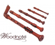 Woodnote 5 pieces Pro. Wood Grain Recorder Set - Int'l delivery