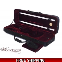 Woodnote VC-350HRD 4/4 Light Weight Foamed Violin Case/Free 4/4 String Set