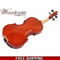 Woodnote VB-290 Beautiful Flamed Back Violin Fiddle / Free String Set
