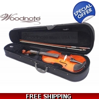 Woodnote VB-310 Solid Spruce Top/Maple Back Violin with Free German Silver String Set