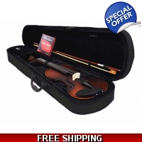 Woodnote VB-330E Antique Style 4/4 Violin Fiddle with Ebony Pegs & Fingerboard