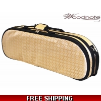 Woodnote VC-820GD Enhanced 4/4 Half-Moon Violin Case/Free German Silver String Set