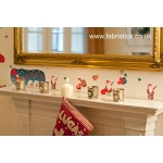 Santa Christmas FabriStick® Wall Stickers