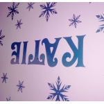 Frozen Glitter Snowflake Personalised Name Wall Sticker