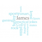 Personalised Word Cloud Wall Sticker
