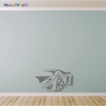 Sports Car Vinyl Wall Sticker