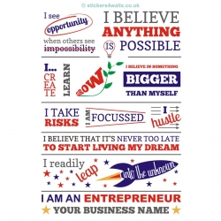 Business Entrepreneur Wall Sticker