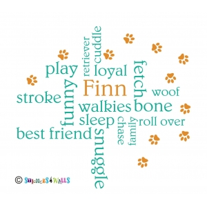 Personalised Dog Word C..