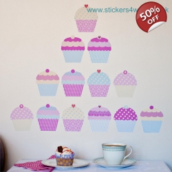 Cupcake Wall Stickers