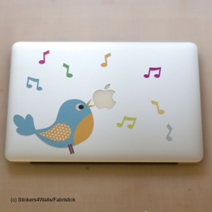 Blue Bird Laptop Sticker, Fa..