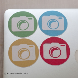 Camera Laptop Sticker Set, F..