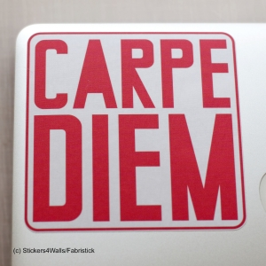 Carpe Diem Laptop Sticker, F..