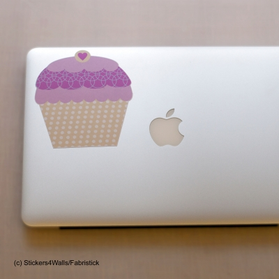 Cupcake Laptop Sticker Fabristick® Fabric Stickers