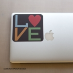LOVE Laptop Sticker Fabristick® Fabric Stickers