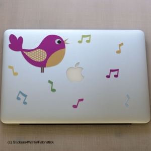 Pink Bird Laptop Sticke..
