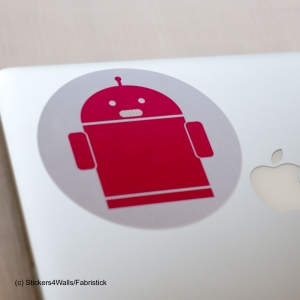 Robot Laptop Sticker Fa..