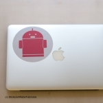 Robot Laptop Sticker Fabristick® Fabric Stickers