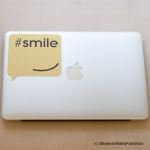 Smile Laptop Sticker, FabriStick® Fabric Stickers