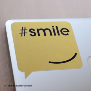 Smile Laptop Sticker, FabriS..