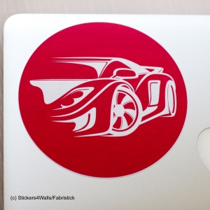 Sports Car Laptop Sticker Fa..