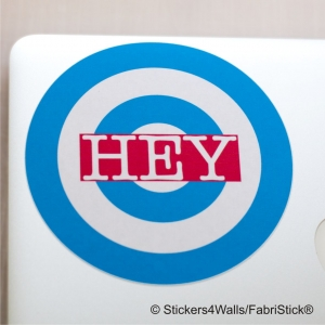 HEY Laptop Sticker Fabristic..