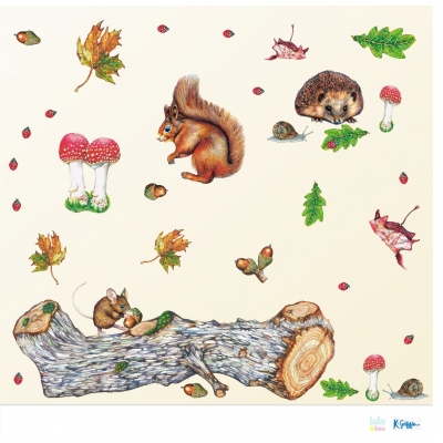 Woodland Animal Fabric Wall Stickers
