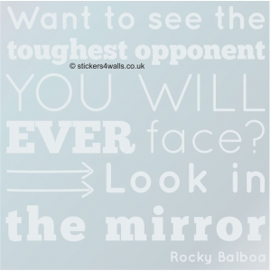 Look in the Mirror Rocky Bal..