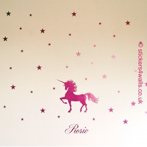 Personalised Unicorn and Sta..