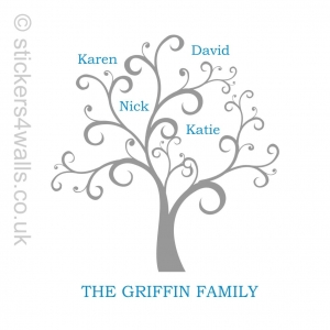 Personalised Family Tree Wal..