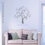 Personalised Family Tree Wall Sticker
