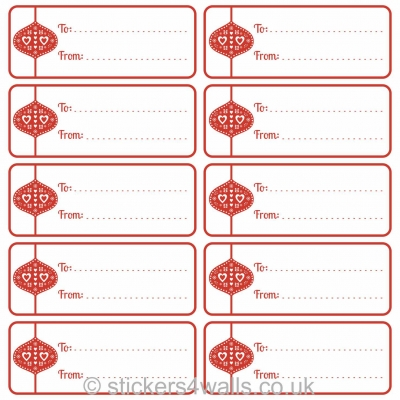 Christmas Labels Writable Fabristick® Fabric Stickers, choice of Reindeer, Baubles, Stars or Robins
