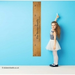 Personalised Ruler Height Chart Wall Sticker
