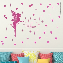 Fairy Wall Sticker, Personalised with Name
