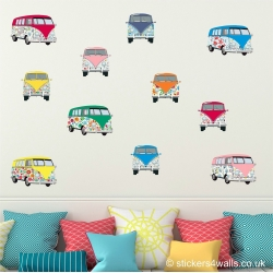 Flower Campervan Wall Stickers