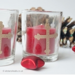 Pack of 3 Christmas Votive Candles