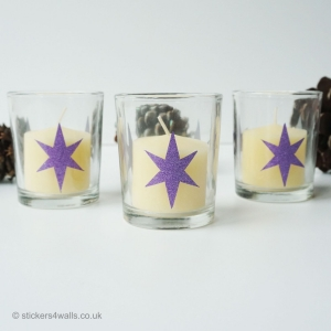 Pack of 3 Christmas Votive C..