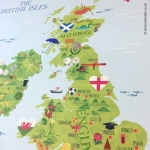 British Isles Fabric Wall Sticker for Kids