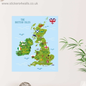 British Isles Fabric Wall St..